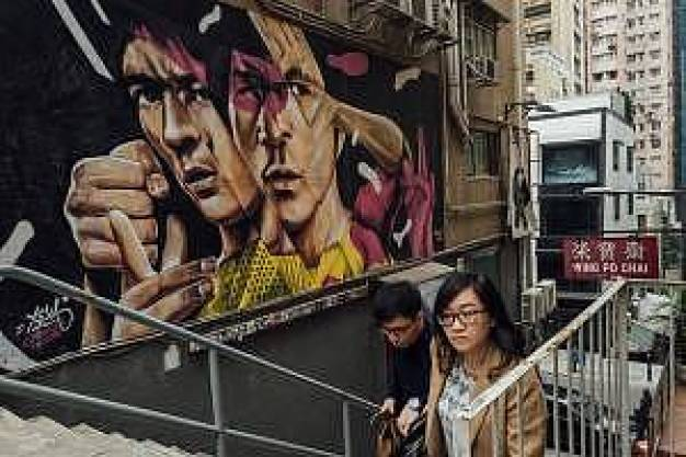 "SonaOne: ""Some of the best street art can be found in Hong Kong and it's always fascinating for me to check out graffiti by artist as I am also a fan of the art."""