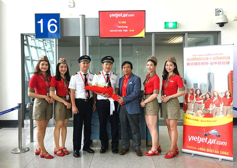 Vietjet Launches its 5th Route to Taiwan Linking Ho Chi Minh City with Taichung