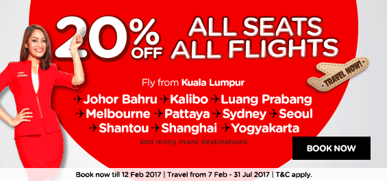 Air Asia 20% Discount Campaign Returns!