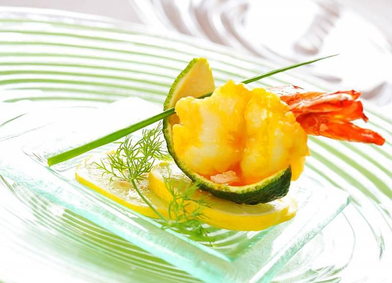 Prawn in orange sauce at Latest Recipe, Le Meridien KL