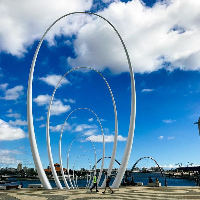 Spanda, art installation at Elizabeth Quay, Perth