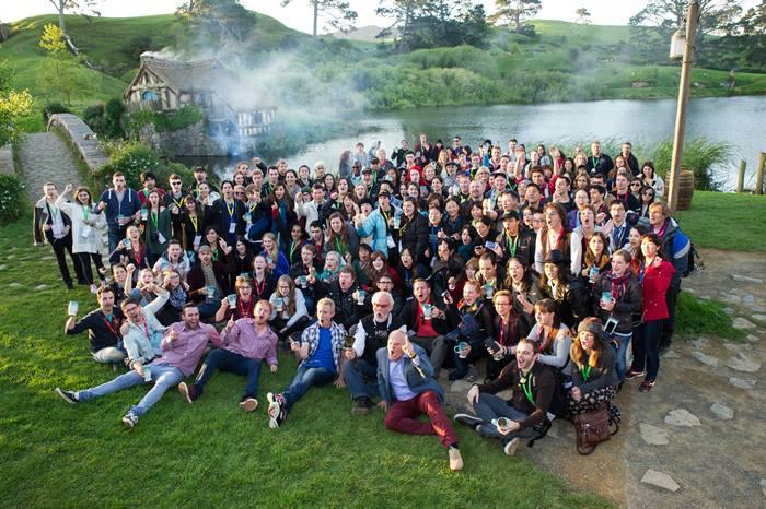 Fan fellowship Hobbiton group (Birthday Celebrations At Hobbiton Movie Set For International Hobbit Day In New Zealand)