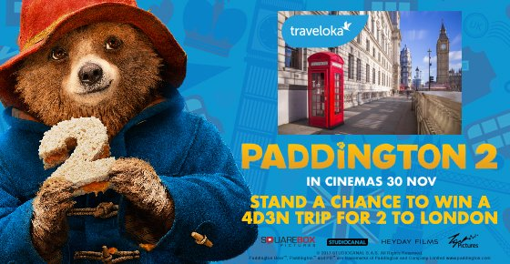 Win an Un-fur-gettable Trip to London with 'Paddington 2' Contest