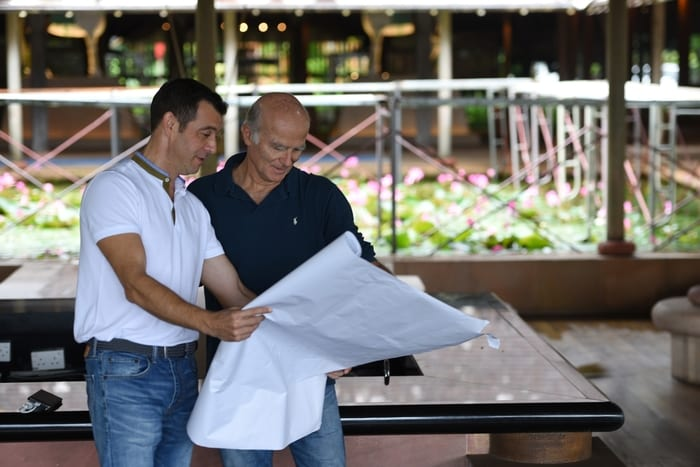 General Manager Arnaud Girodon with Interior Designer Didier Lefort of DL2A