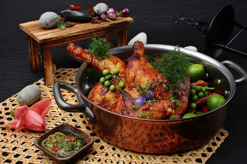 Ayam panggang sambal limau kasturi