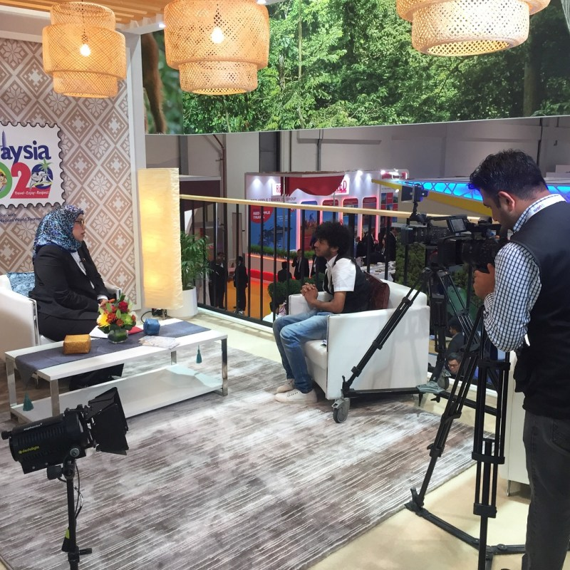 Madam Noorul Ashikin Mohd Din, General Manager of Tourism Selangor interviewed with local TV Station.