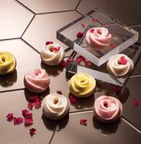 Steamed Rose Floret Buns