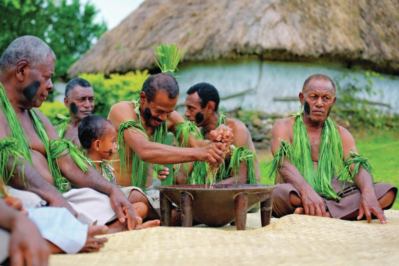 Kava ceremony at a local village. (Picture credit: Mark Snyder)