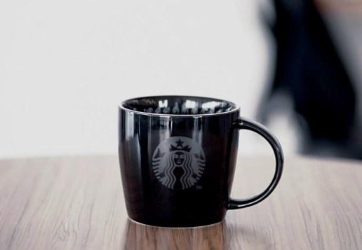 Starbucks Signing Store 16oz Mug Black with Gold Rim