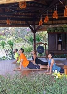 Hatha yoga session at the Yoga Pavilion