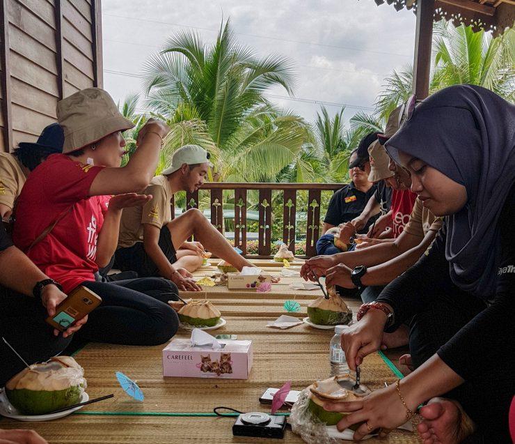 Pandan Coconut juice tasting at the SFV during ETW7