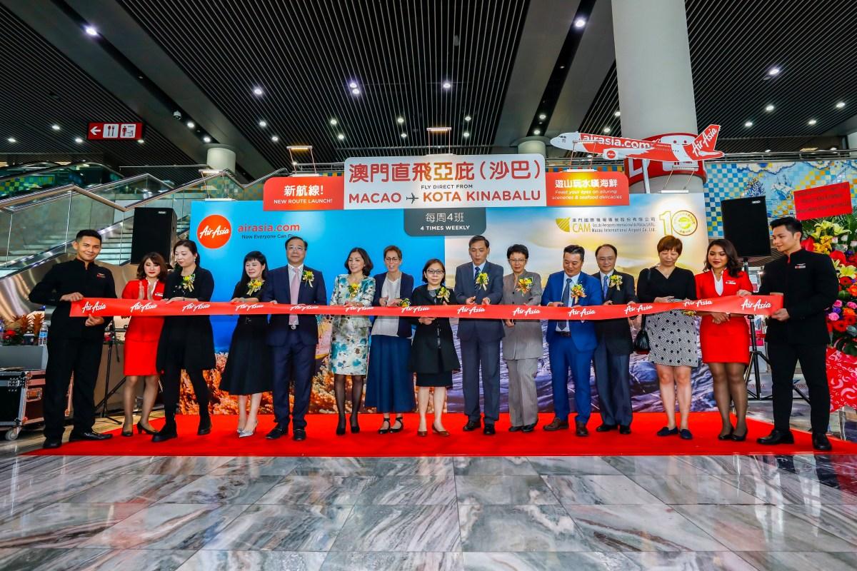 AirAsia Celebrates Maiden Flight from Kota Kinabalu to Macao
