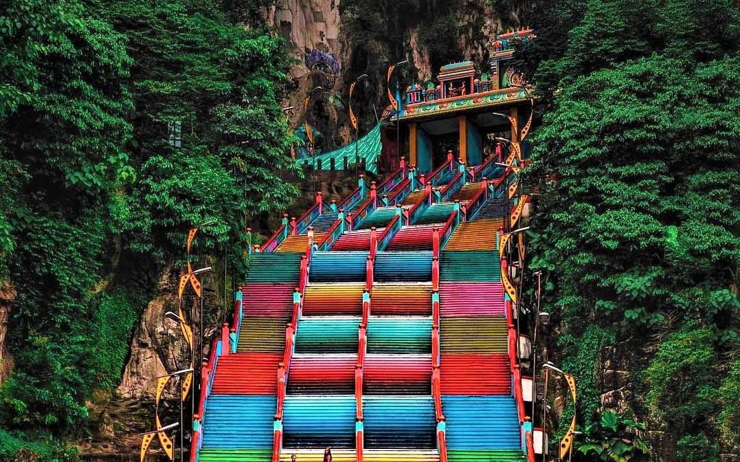 7. Batu Caves Rainbow Staircase and Dark Cave, the Eco Adventure Activity - Credit instagram
