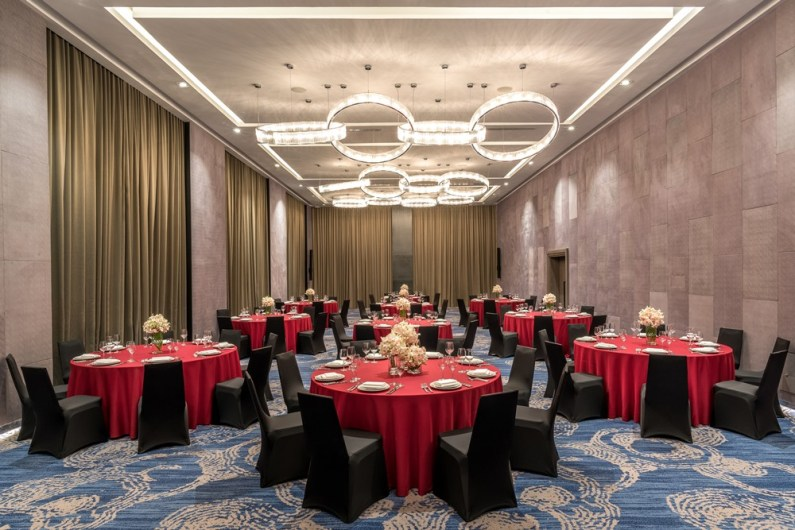 The Grand Room at Courtyard by Marriott Siem Reap, arranged in dining configuration.