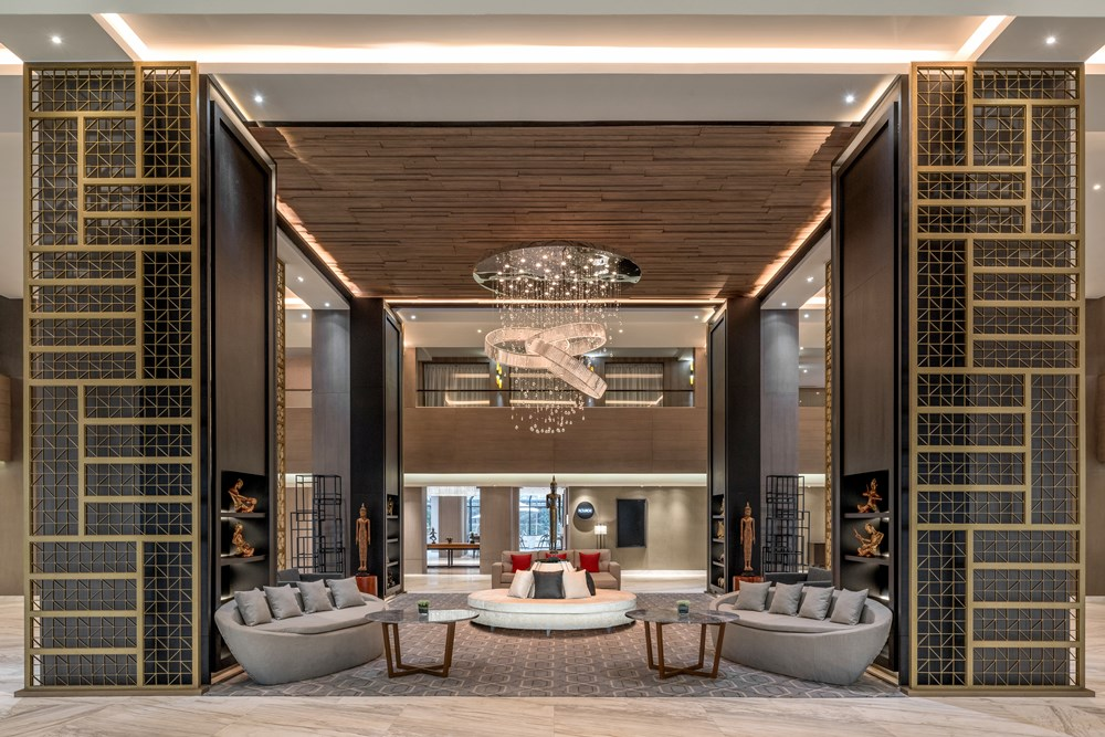 The lobby at Courtyard by Marriott Siem Reap