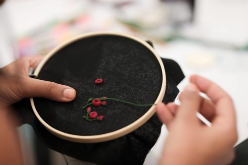 Embroidery Pendant workshop