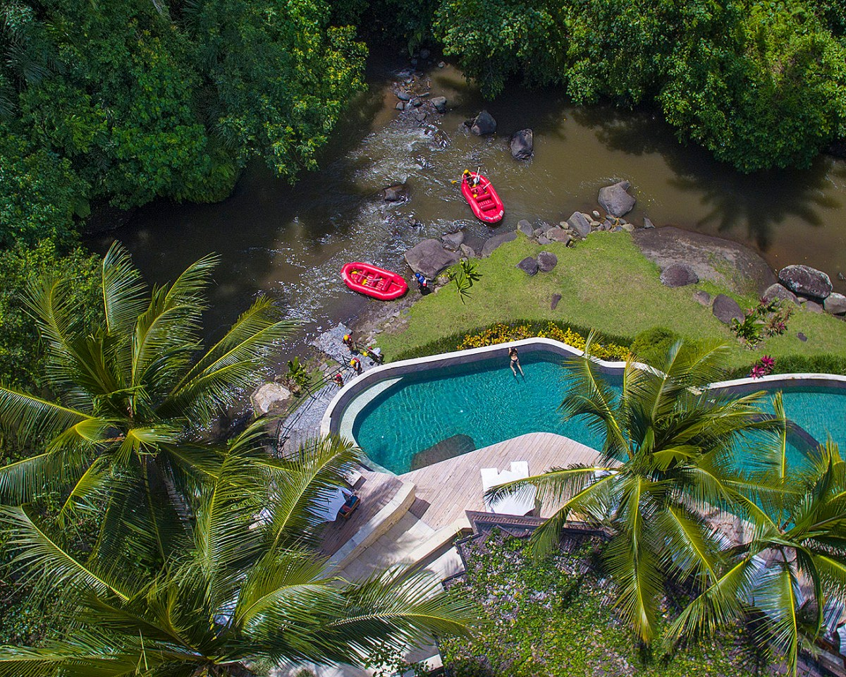 Four Seasons Resort Bali at Sayan Launches Island's First Hotel Arrival by River Raft