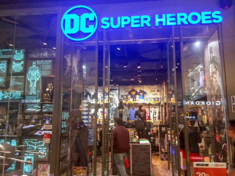 Find the DC Comics Superhero Merchandise Store at Level 3, SkyAvenue.