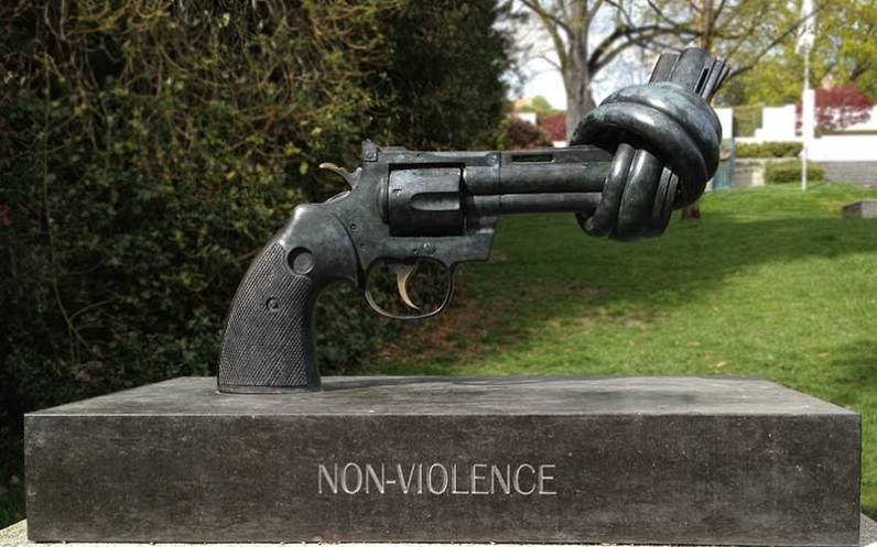 Olympic Park in Switzerland also made a statement for non-violence and peace. Photo by https://www.nonviolence.com