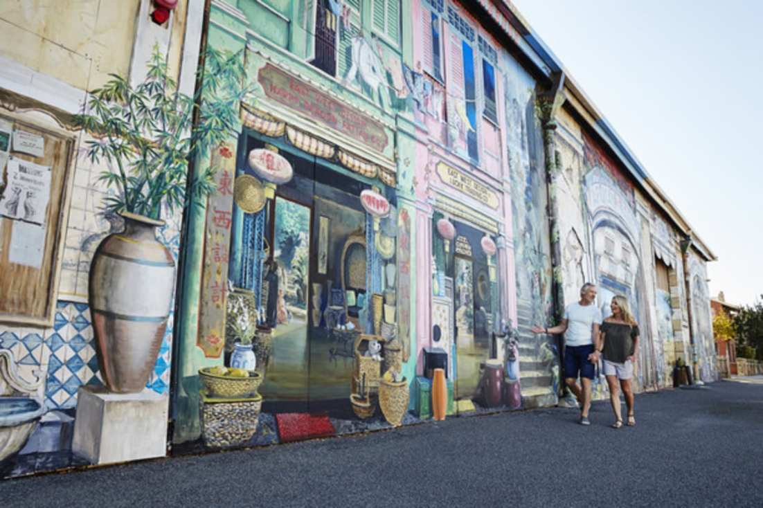 Browse through one of Freo's many street artworks