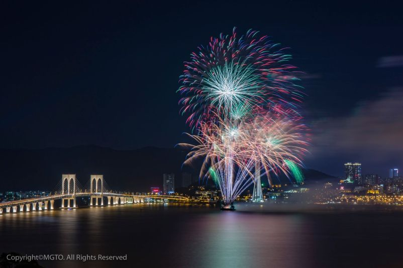 "The 30th Macao International Fireworks Display Contest themed as ""Duo Celebrations for Macao"""