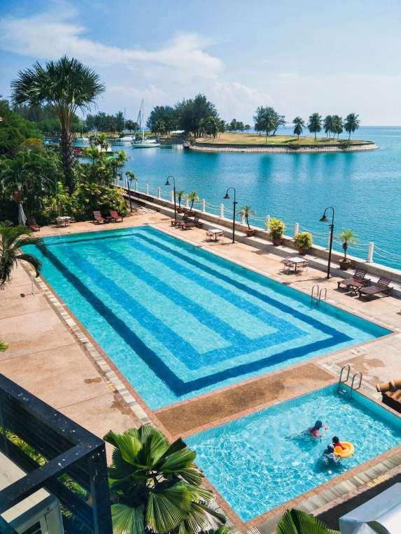 The pool at Kudat Golf & Marina Resort.