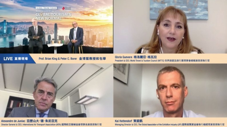 "Seven internationally-respected speakers from various sectors shared business insights including the latest consumer sentiments, post-pandemic travel trends and industry protocols in the ""Beyond COVID-19: Global Tourism's New Normal"" online forum."