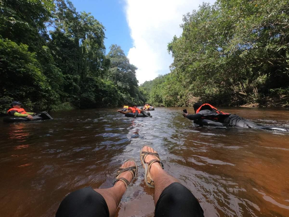 Water-Tubing at Kenerong River