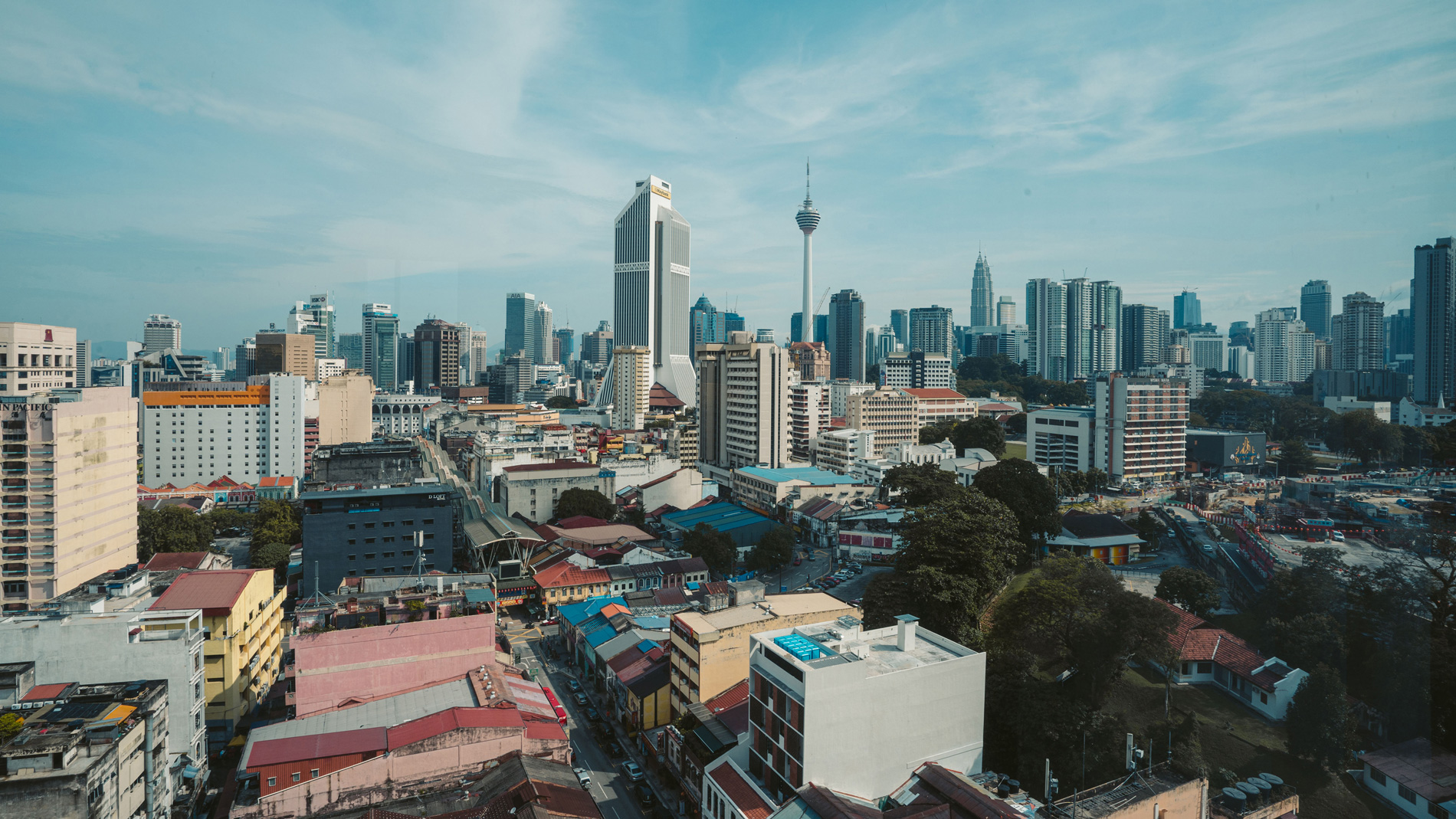 Four Points by Sheraton Kuala Lumpur Chinatown - The city view from my room.