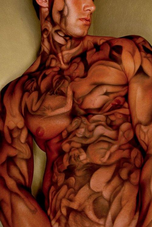 Airbrush Male Body Painting