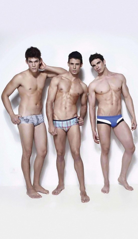 three male models
