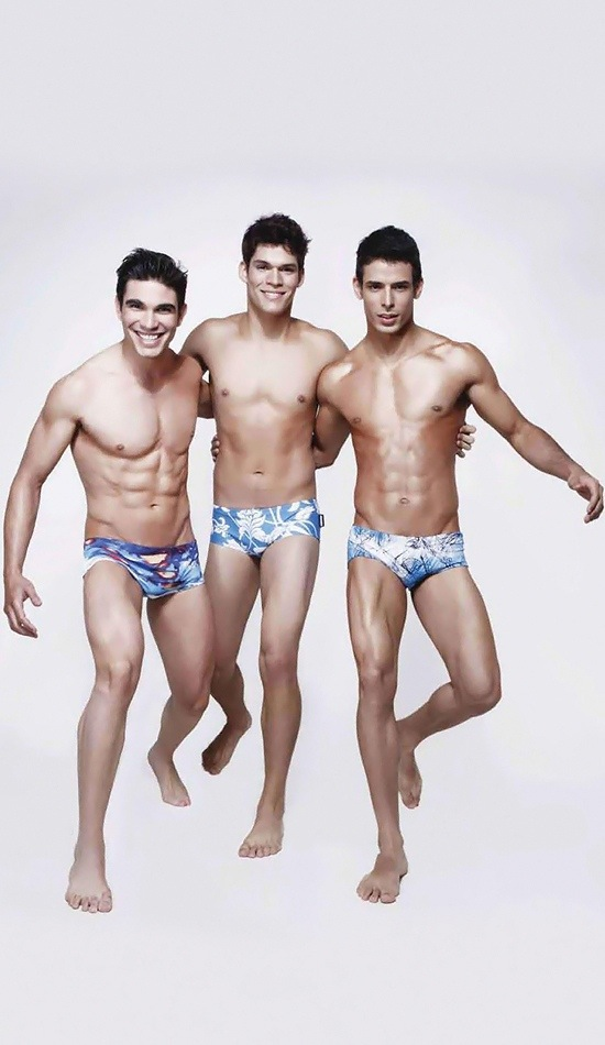 Sexy Male Models Ariel Iglesias, Jefferson Lopes and Thiago Bergamasco 4