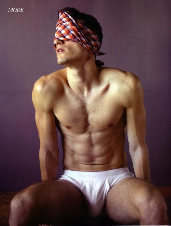 Hot and lean male model Arthur Kulkov