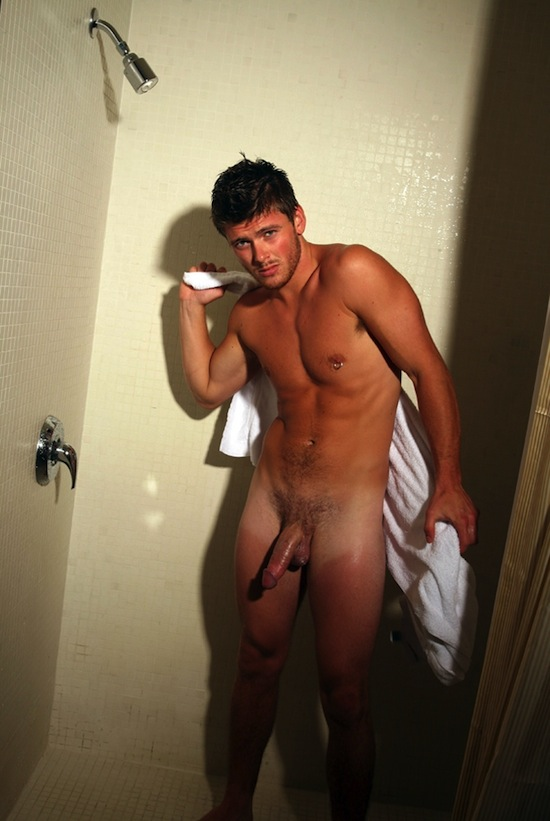 In Jock Naked Shower