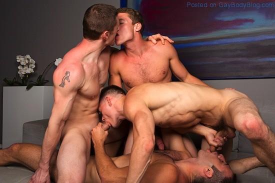 Gay Porn - Bareback Jock Orgy (8)