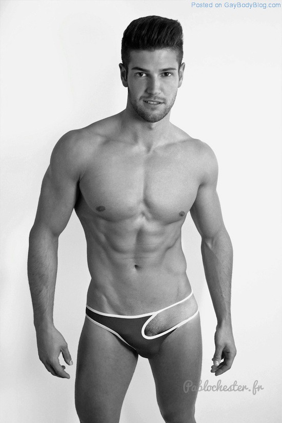 The Bulge Of Gorgeous Muscled Guy Jeremy Baudoin 1
