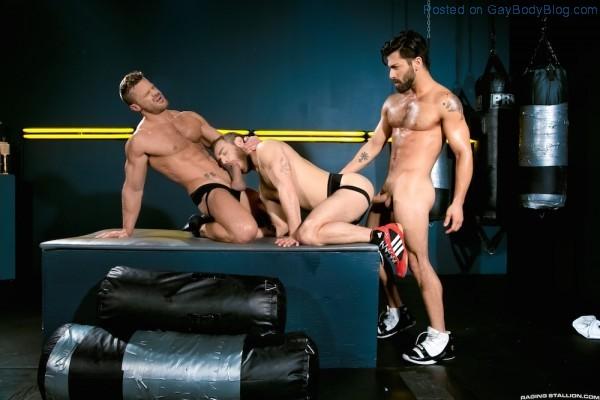 Sporty Muscle Fucking With Landon Conrad, Shawn Wolfe And Adam Ramzi 2