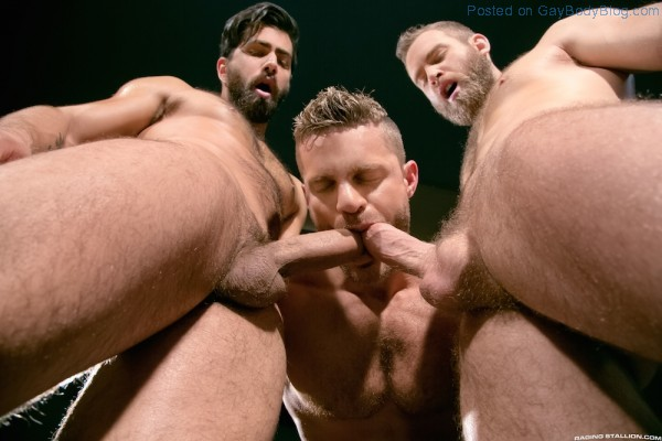 Sporty Muscle Fucking With Landon Conrad, Shawn Wolfe And Adam Ramzi 7