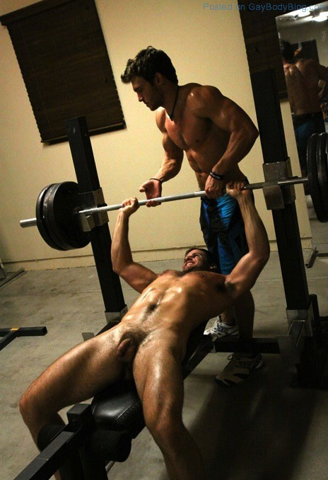 Nude guys in gym