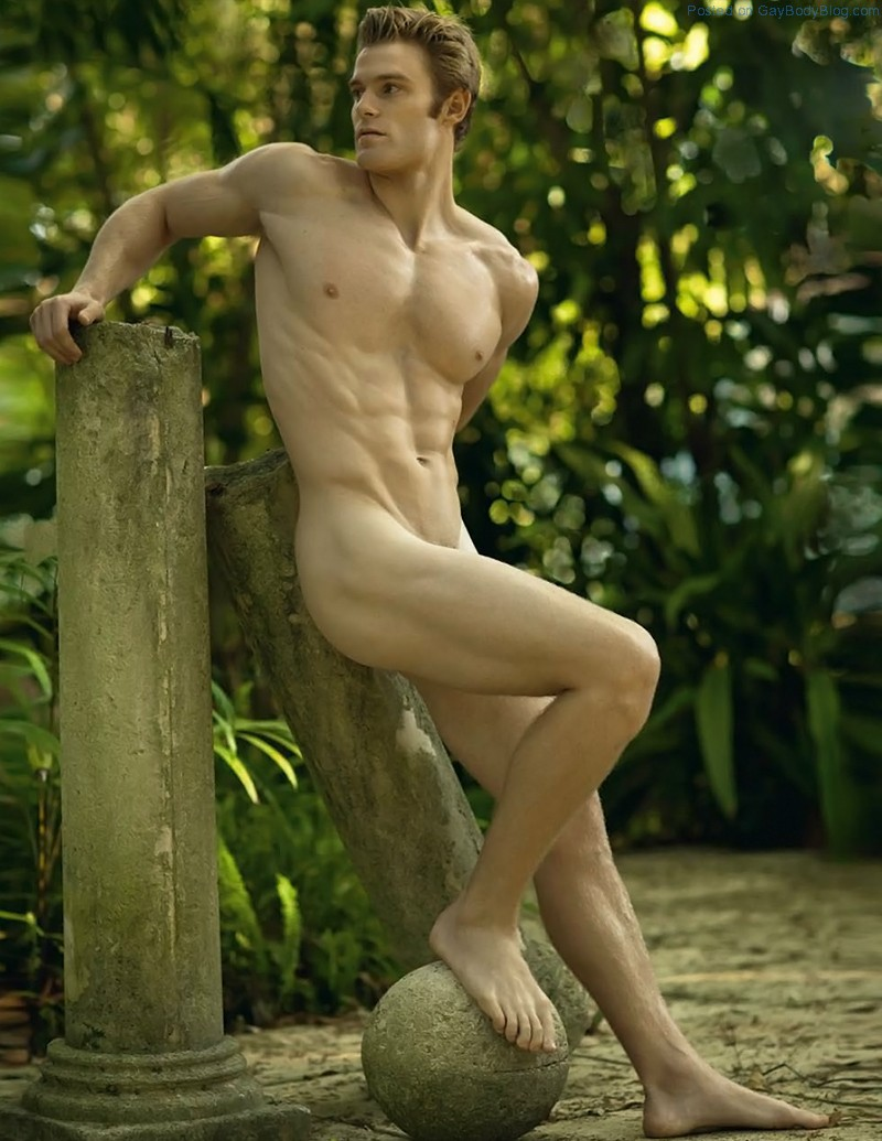 Naked men posing nude