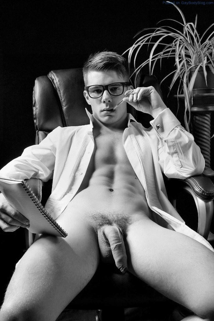 Uncut white men naked