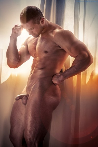Uncut muscle man Naked Muscle Man Anthony Rossi