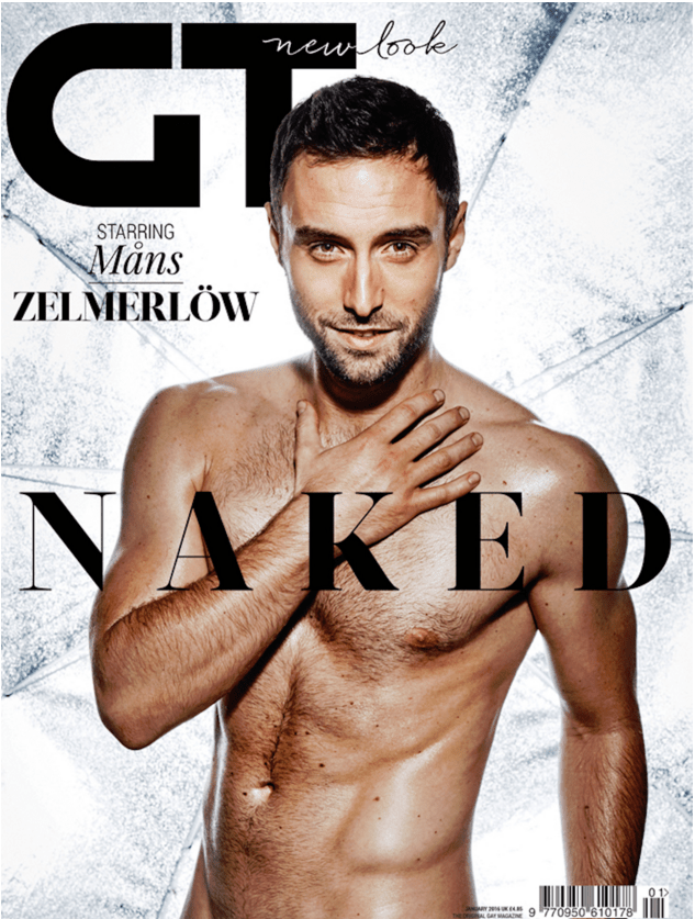 Måns Zelmerlöw poses naked for gay mag cover