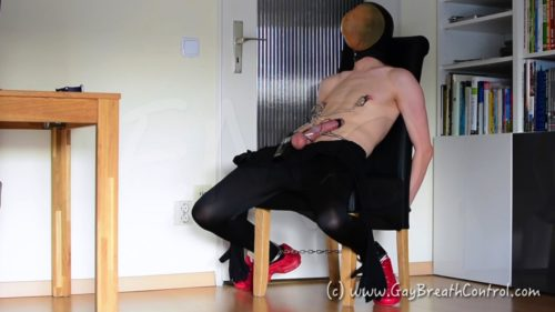 ESTIMED BREATH CONTROLLED ZENTAI EMO'S CUMSHOT