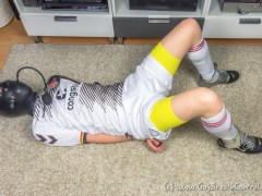 EmoBCSMSlave Hogtied in Soccer Kit