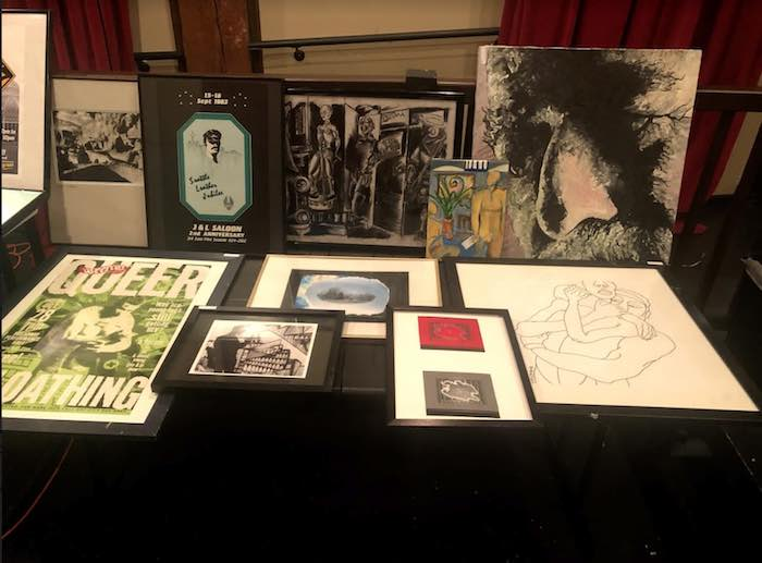 Photo of various art pieces on table