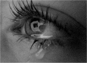 tearful eye