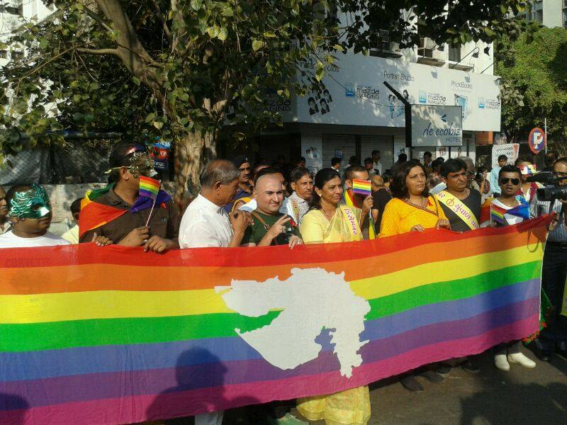 Pride in Ahmedabad being flagged off by the city Mayor