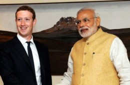 modi, facebook, zuckerberg