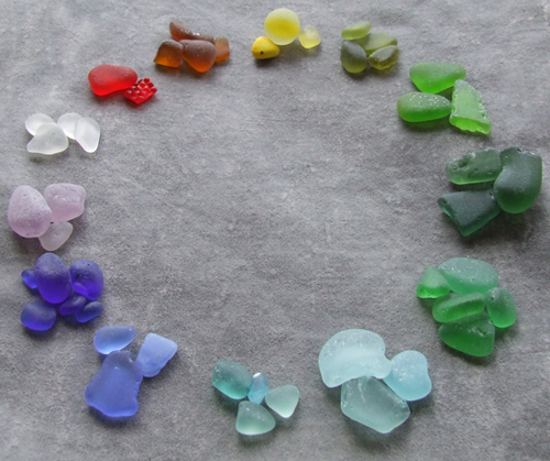 beach glass colour wheel